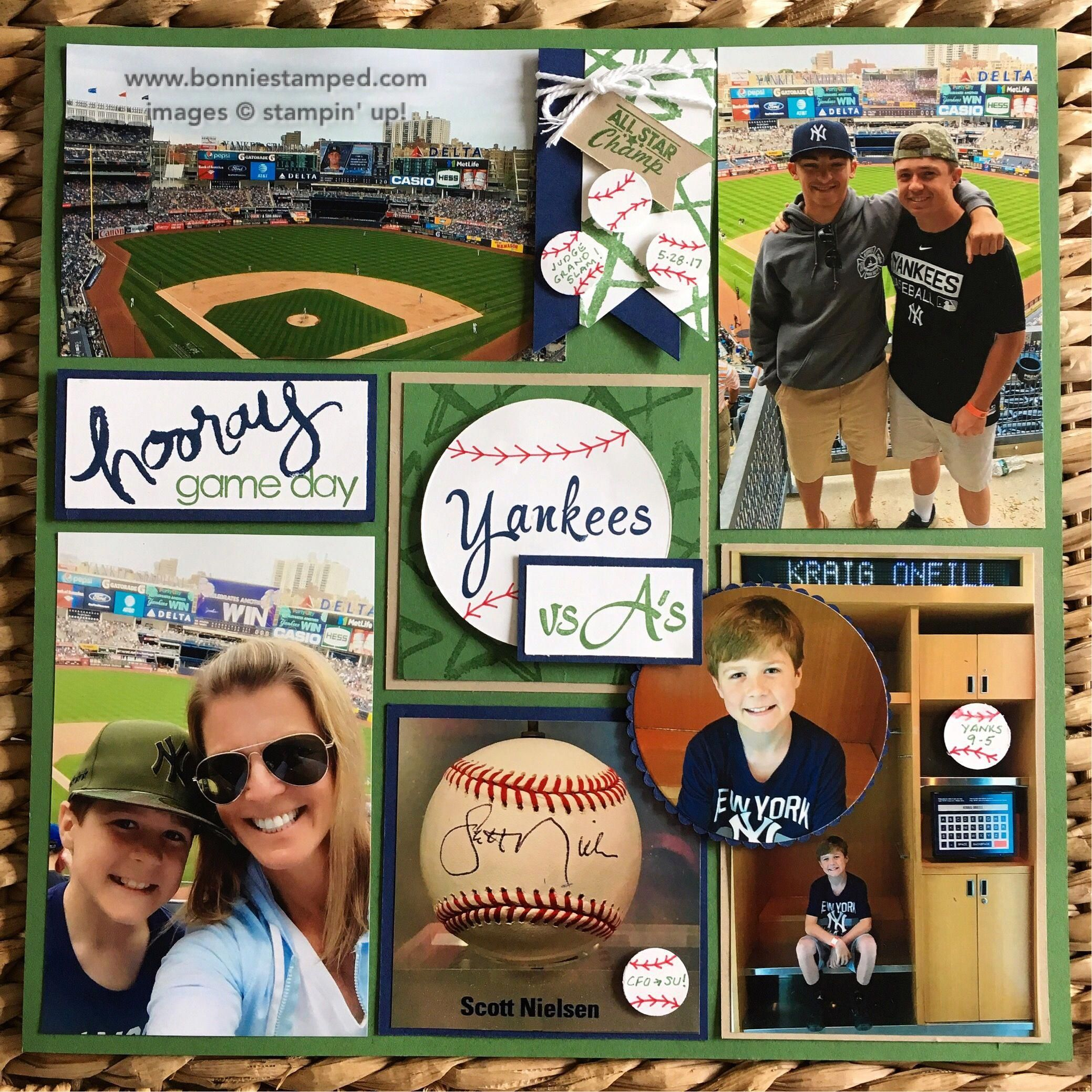 Baseball Scrapbook Page To Highlight Our Day In 2020 Baseball Scrapbook School Scrapbook Scrapbooking Sports