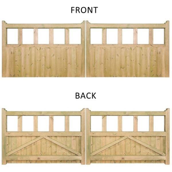 Quorn double wooden driveway gate wooden driveway gates for Double wooden driveway gates