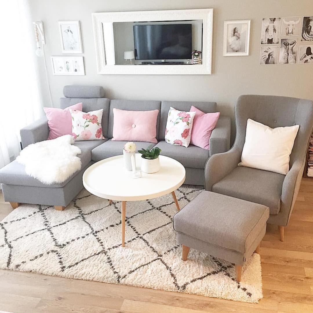 wohnzimmer deko grau rosa  shermansweblog