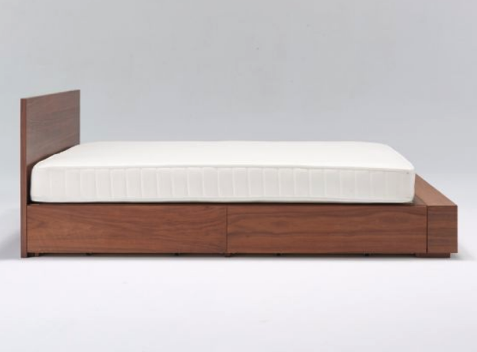 Hd Walnut Storage Bed Headboard Queen, Walnut Storage Bed Queen