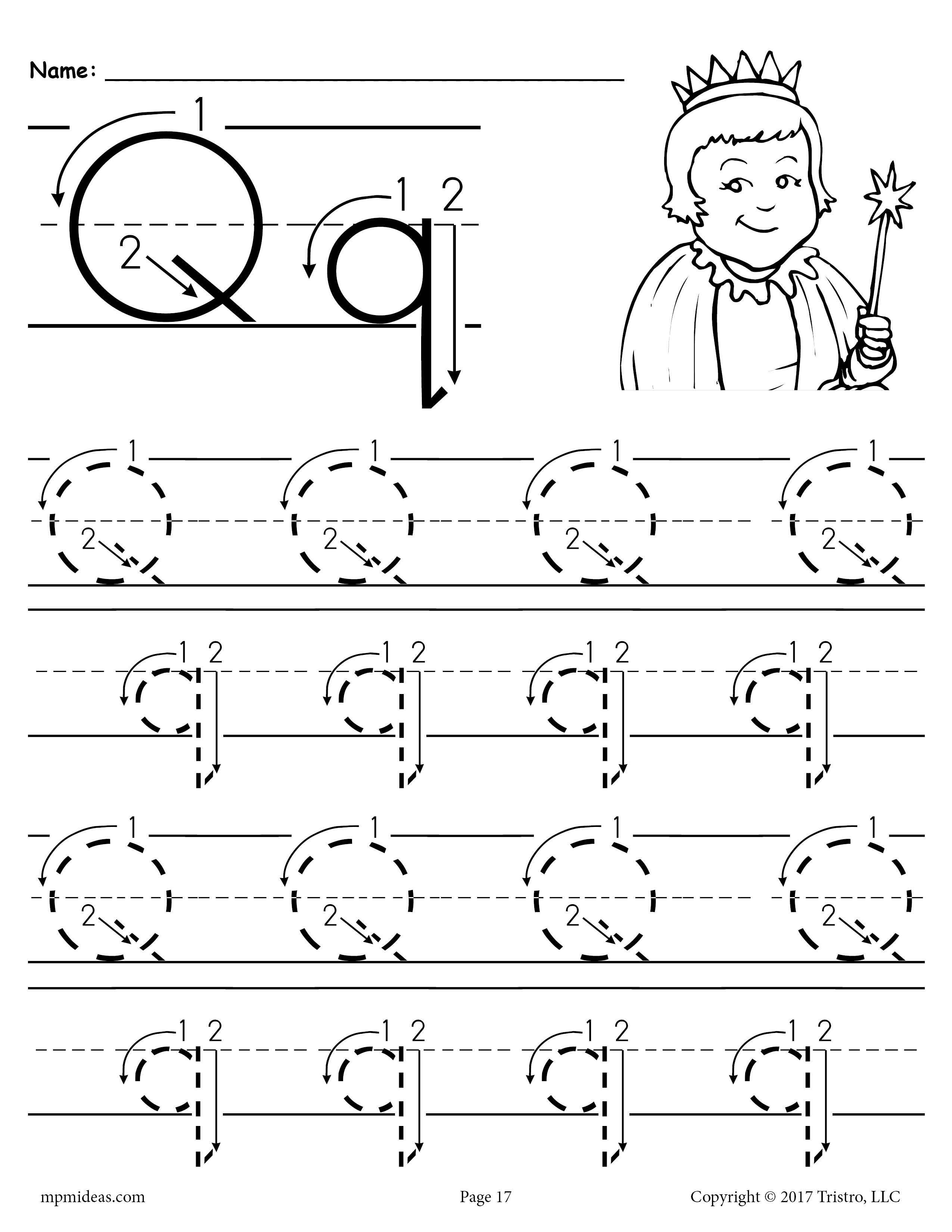 Printable Letter Q Tracing Worksheet With Number And Arrow Guides Supplyme Letter Q Worksheets Preschool Letters Tracing Worksheets Preschool [ 3300 x 2550 Pixel ]