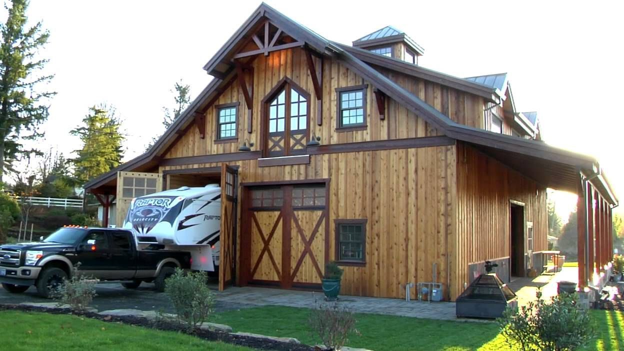 Barn pros olympic 48 gable barn apartment with boutique Barn with apartment plans