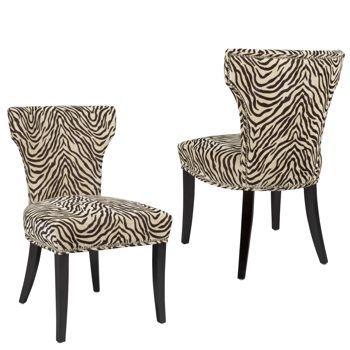 Bicci Zebra Fabric Chair 2 Pack From Costco Ca Chair Fabric Zebra Chair Zebra