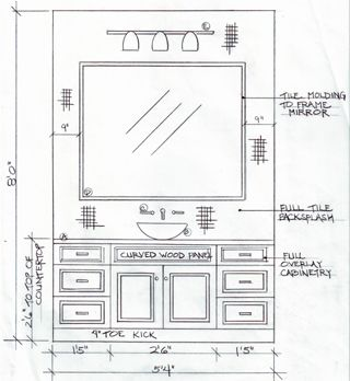 Environmental Graphic Design Restroom Sign Elevation Drawing