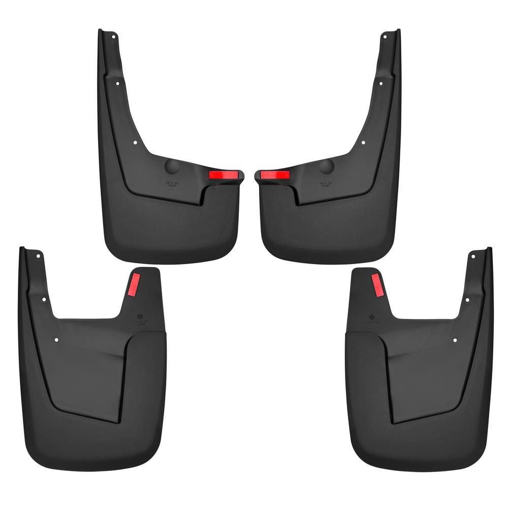 Husky Liners 58146 Black Front and Rear Mud Guards Fits 2019 Ram 1500 Without Flares