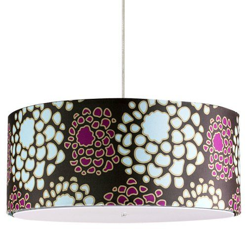 Find it at the Foundary - Mum in Plum and Cornflower Jackson 24 x 10 in. Pendant Lamp