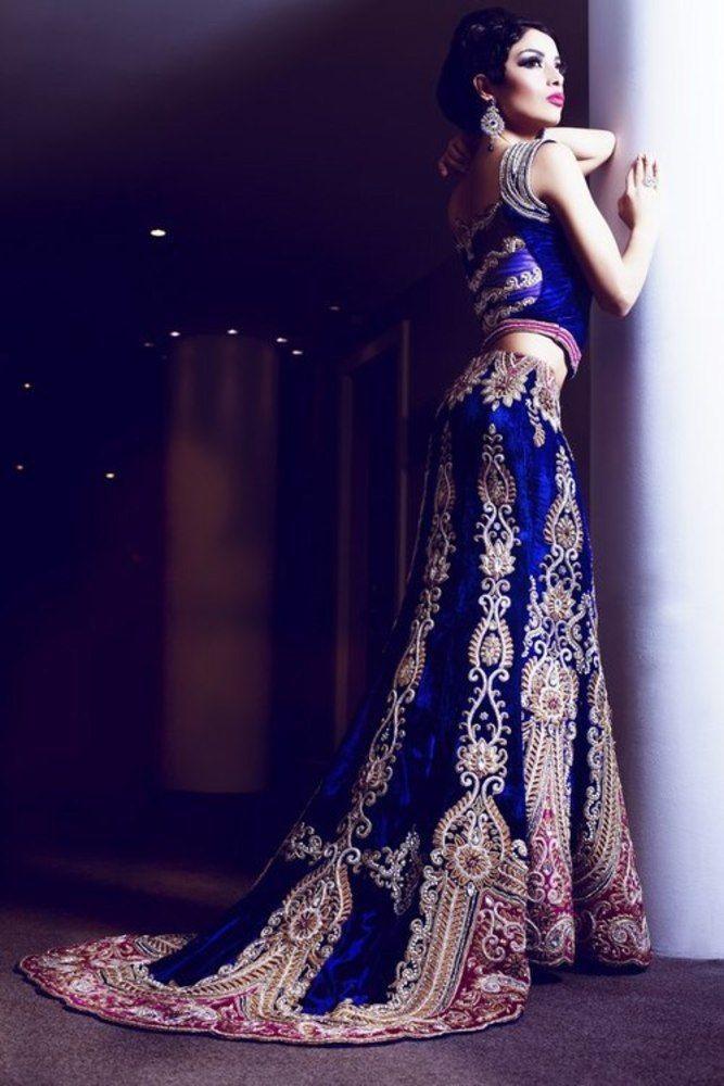 Royal blue asian maxi dress