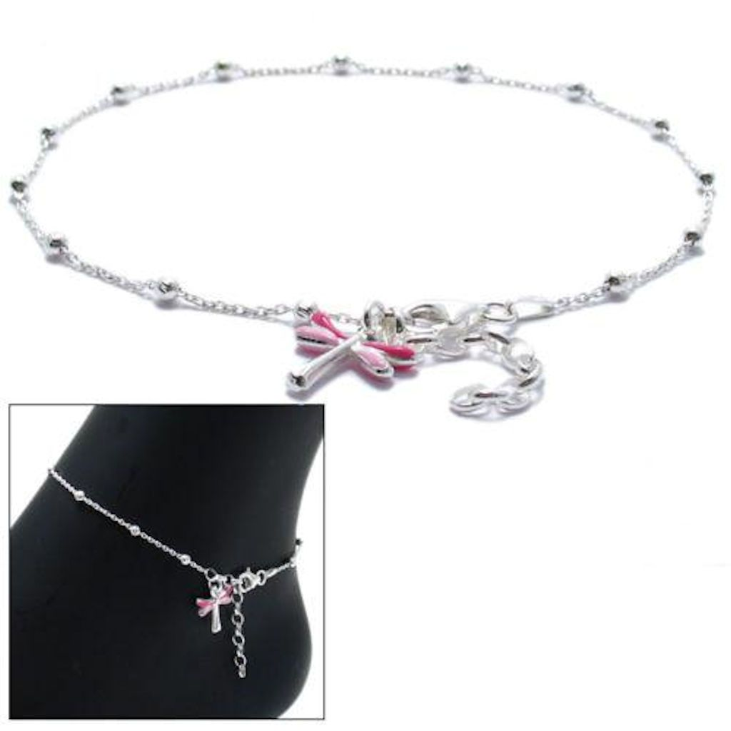 adjustable sterling a ankle anklet bracelet looks great heart ring lace with bracelets toe silver pin