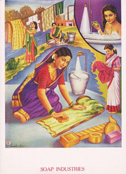 India Soap Ad Indian Art Vintage India Art