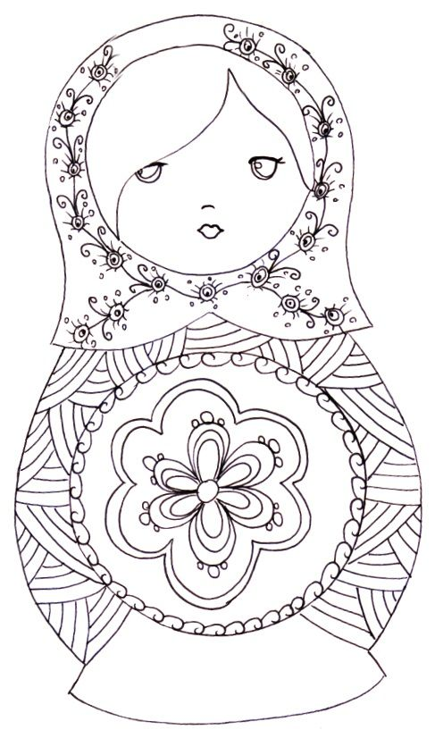 Matryoshka Coloriage Coloring Pages Coloring Books