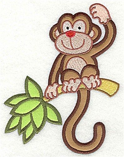 Monkey Applique Embroidery Design Annthegran Embroidery Applique