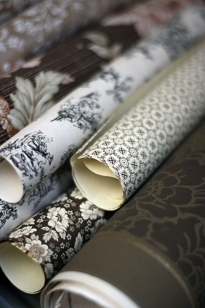 stunning vintage wallpapers by Ana Rosa #vintage home decor Found by ...