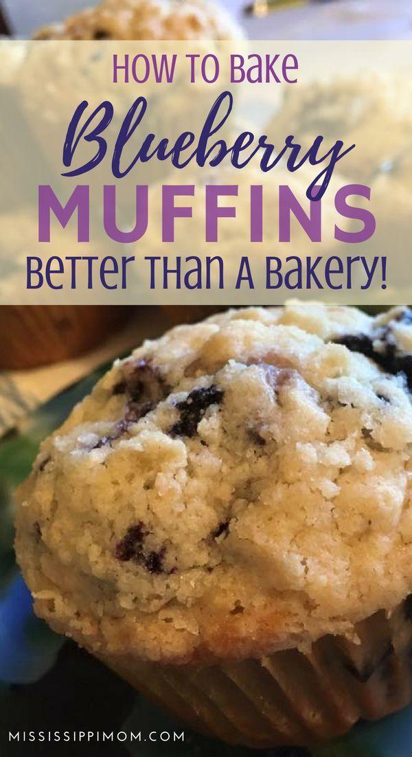 Blueberry Muffins Opskrift Mad Og Drikke Mad Og Ler