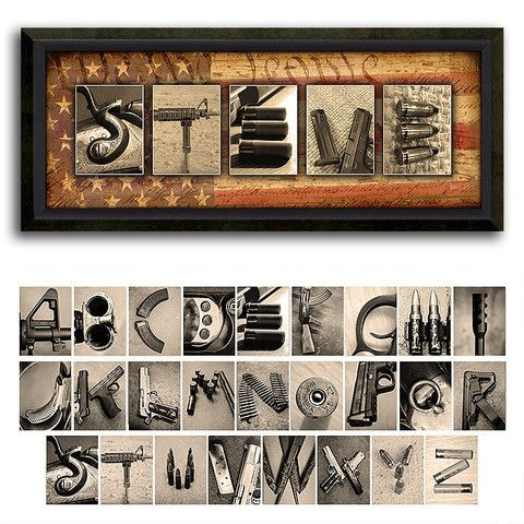 Firearm Guns Name Art  Collection Letter Guns And Craft
