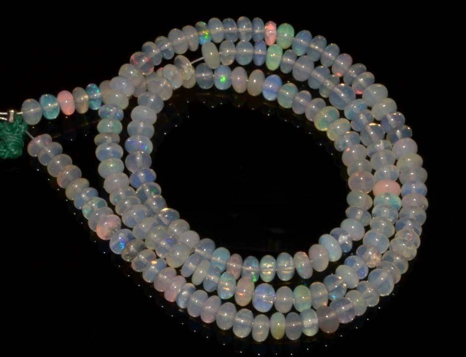 1725 Natural Ethiopian Welo Opal Gemstone Rondelle Plain