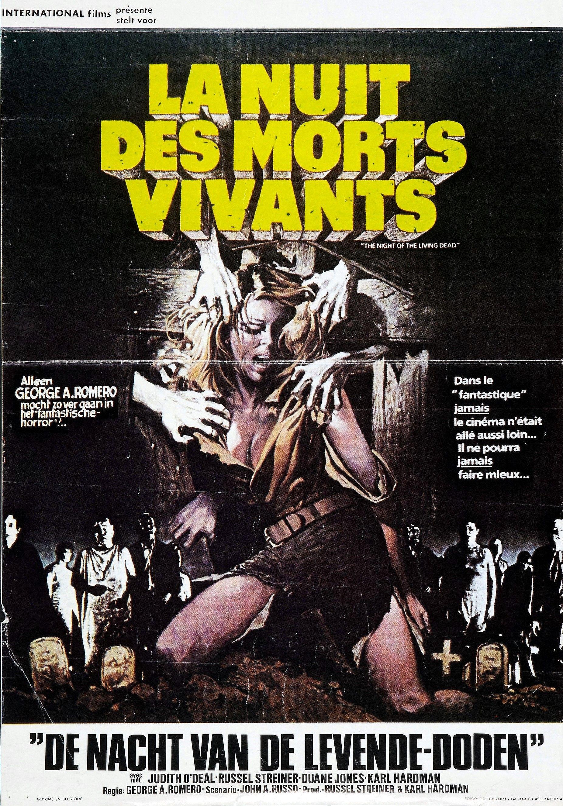 Night Of The Living Dead 1968 Belgian Poster