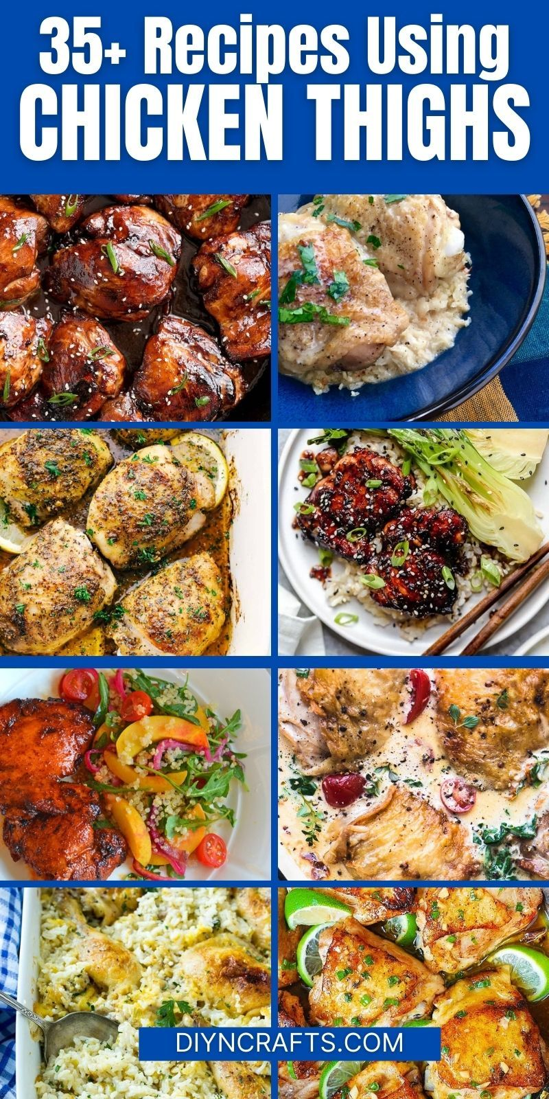 35 Flavorful Chicken Thighs Recipes For Easy Dinners Recipe Recipe Using Chicken Chicken Dinner Recipes Chicken Recipes Casserole