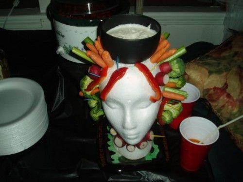 ahahah! veggie head for Halloween