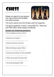 short essay on my favourite game chess