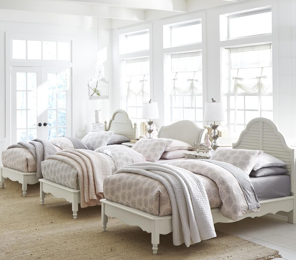Beautiful Bedroom For A Room For Multiple Children. #cottage #bedroom