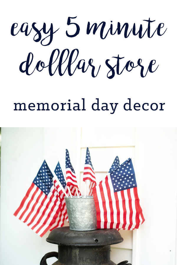 Effortless Five Minute Memorial Day Decor Diy Patriotic