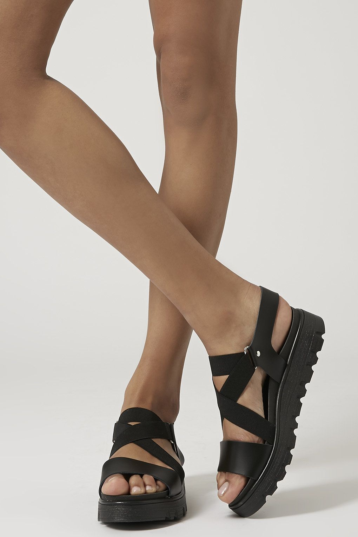 Black jelly sandals topshop - Folly Elastic Strap Sandals Http Shop Nordstrom Com S