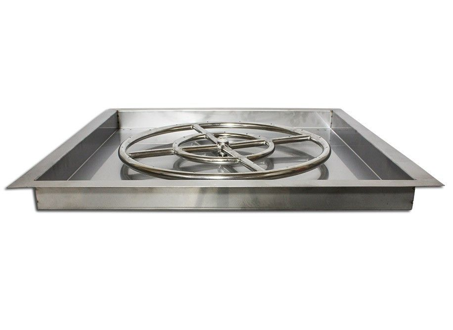 Stainless Steel Square Drop In Pan for Fire Pits - Stainless Steel Square Drop In Pan For Fire Pits FOGONES