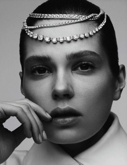 """Karat Art""  Caroline Brasch Nielsen photographed by  Ben Hassett for Vogue Germany May 2016  Stylist: Nicola KnelsHair: Ben SkervinMakeup: Susie Sobol #inspiration #blog #blogger #tumblr #fashion #style #models #photography #vogue #instagram http://www.midnight-charm.com/"