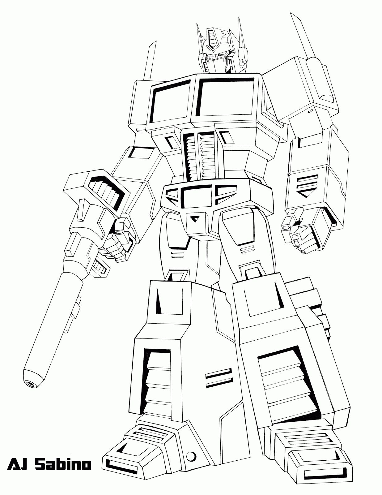 Transformer Optimus Prime Coloring Pages Coloring Home Buku Mewarnai Warna Gambar
