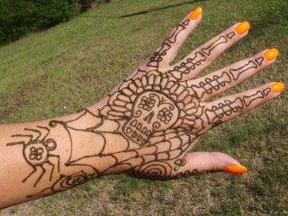 Halloween Henna Henna Tattoo Henna Tattoo Designs Henna Designs