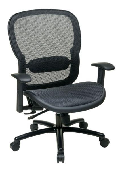 Black Taiwan Matrix Back Chair W Lumber Support Office Chair