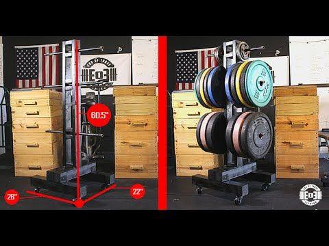 diy weight tree bumper plate storage for the garage gym
