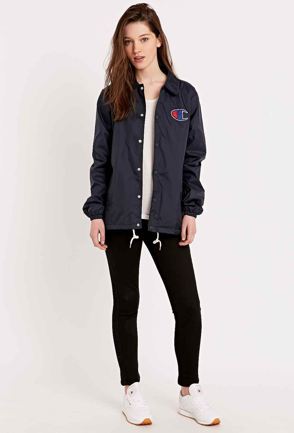 3f2b302b822 Champion Coaches Jacket in Navy | glam | Champion clothing, Champion ...