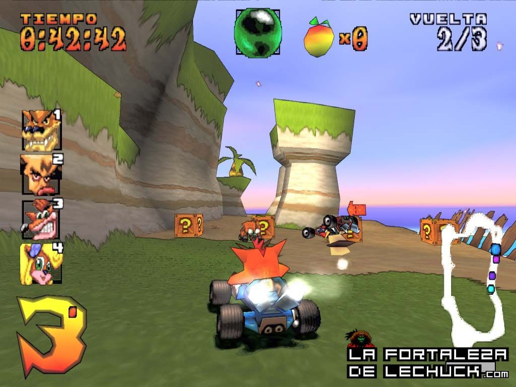 crash team racing la fortaleza de lechuck crash bandicoot