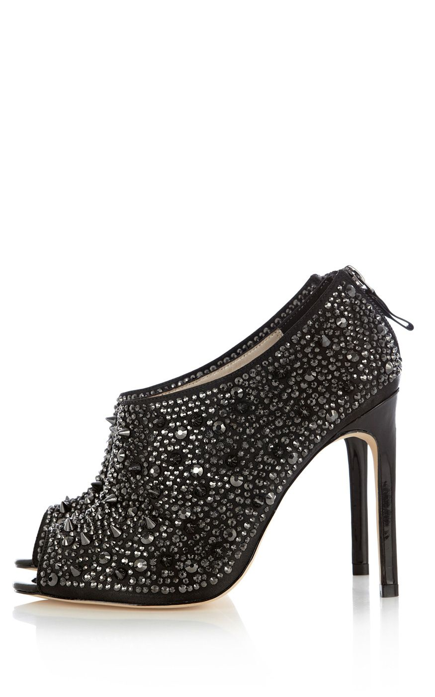 Stud & jewel shoe boot | Luxury Women's maximalism | Karen Millen