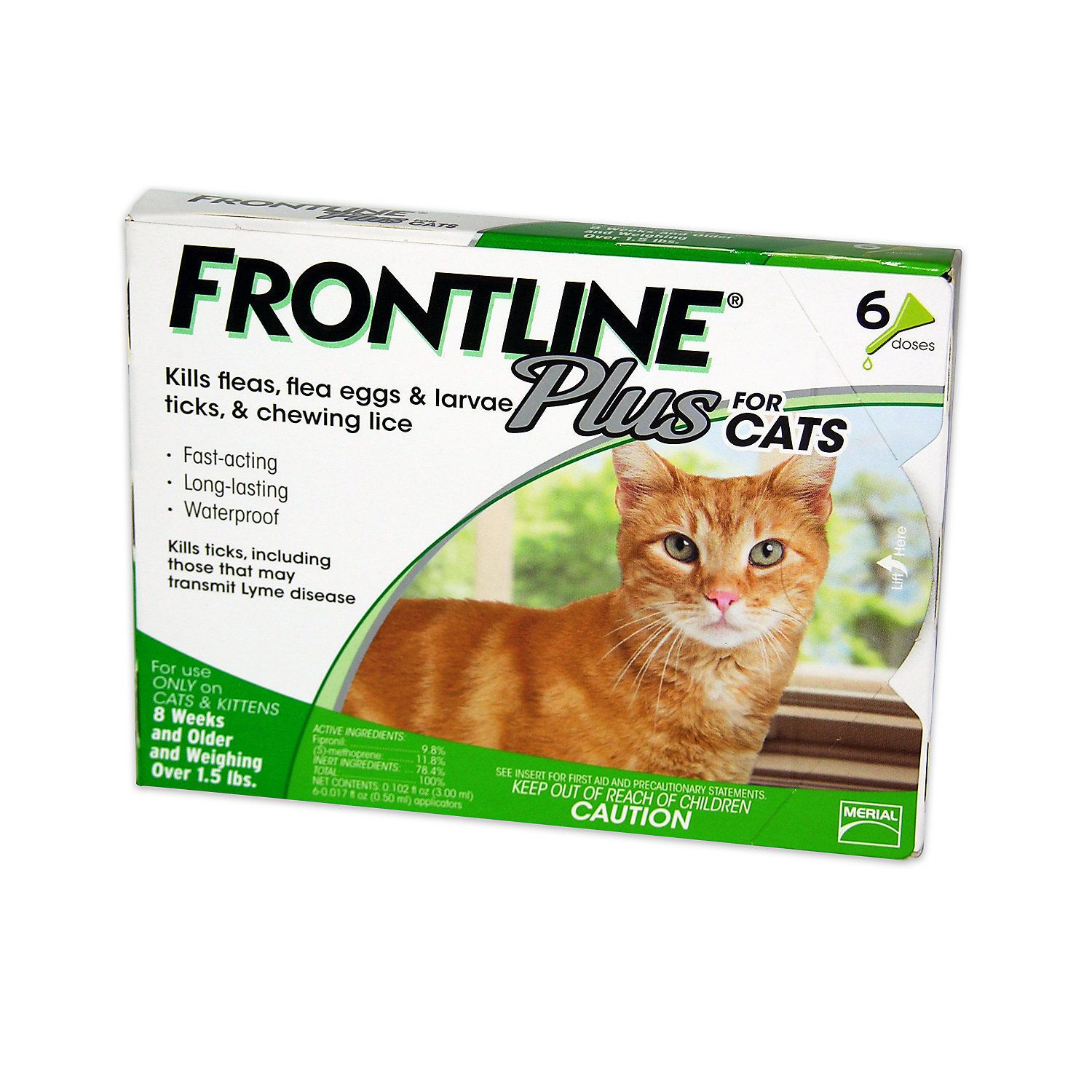 Pet Supplies Frontline Plus Flea And Tick Control For Cats And