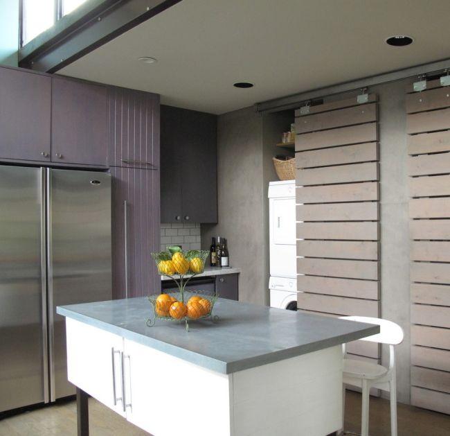 Waschmaschine in der küche verstecken  küche waschmaschine hinter schiebetür verstecken | Möbel ...