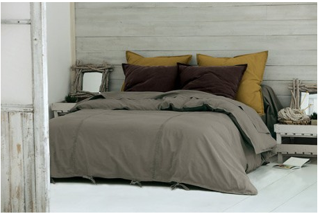 Deco Chambre Ambiance Cocoon Mur Gris Linge Chocolat Bedroom