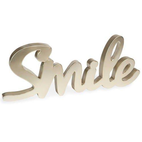 Unique Wanddeko aus Metall x cm SMILE GOLD