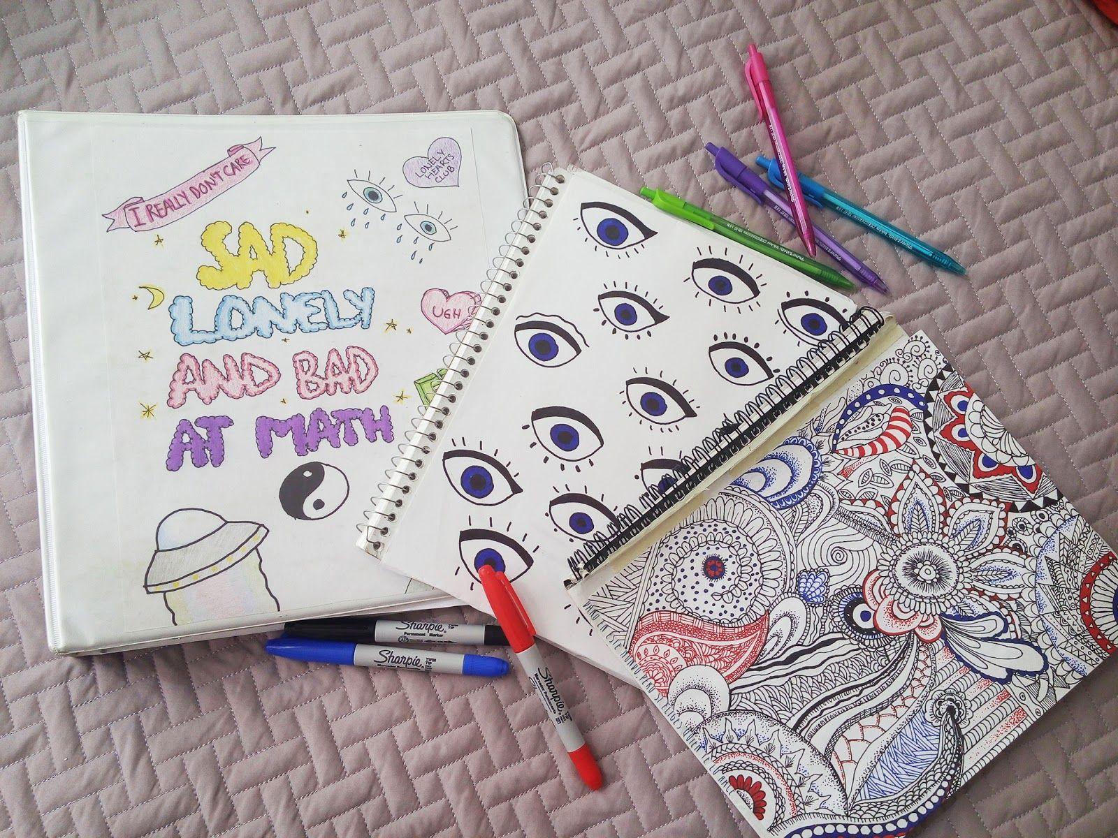 Resultado de imagen para como decorar cuadernos por dentro estilo tumblr t cnicas de dibujo - Decorar album de fotos por dentro ...
