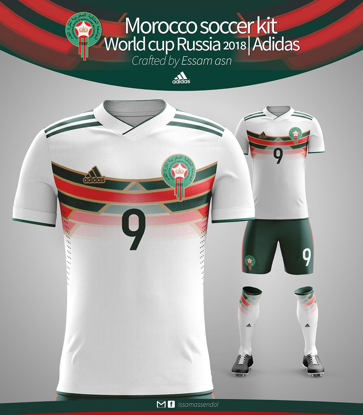 on sale big sale the latest MOROCCO SOCCER KIT WORLD CUP RUSSIA 2018 ADIDAS CRAFTED on ...