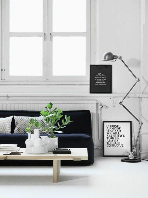 Skandinavische Möbel im Wohnzimmer - inspirierende ...
