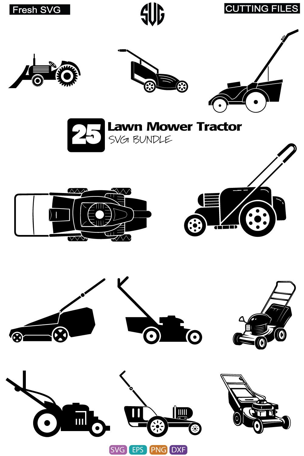 Lawn Mower Tractor Svg Lawn Mower Tractor Bundle Svg Lawn Mower Tractor Silhouette Mower Tractor Clipart Digital File Cricut Svg File In 2021 Lawn Mower Tractor Stencils For Wood Signs Tractor Silhouette