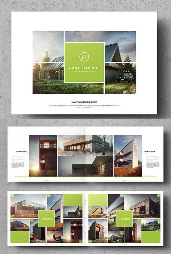 Multipurpose Landscape Brochure Template Photobook Pinterest