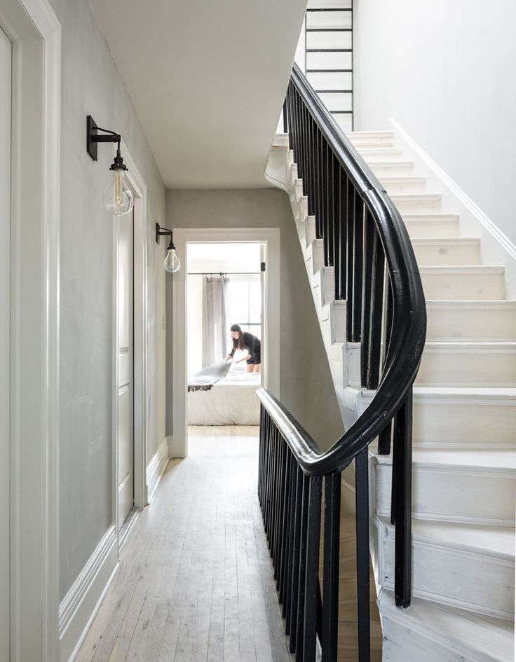 white oak stairs and floors