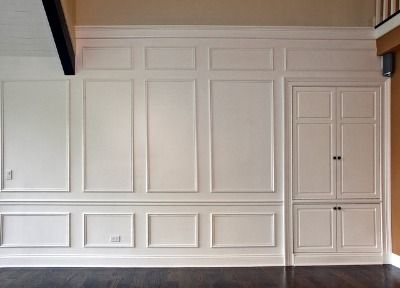 Rooms with wood molding traditional full room raised What to do with paneled walls