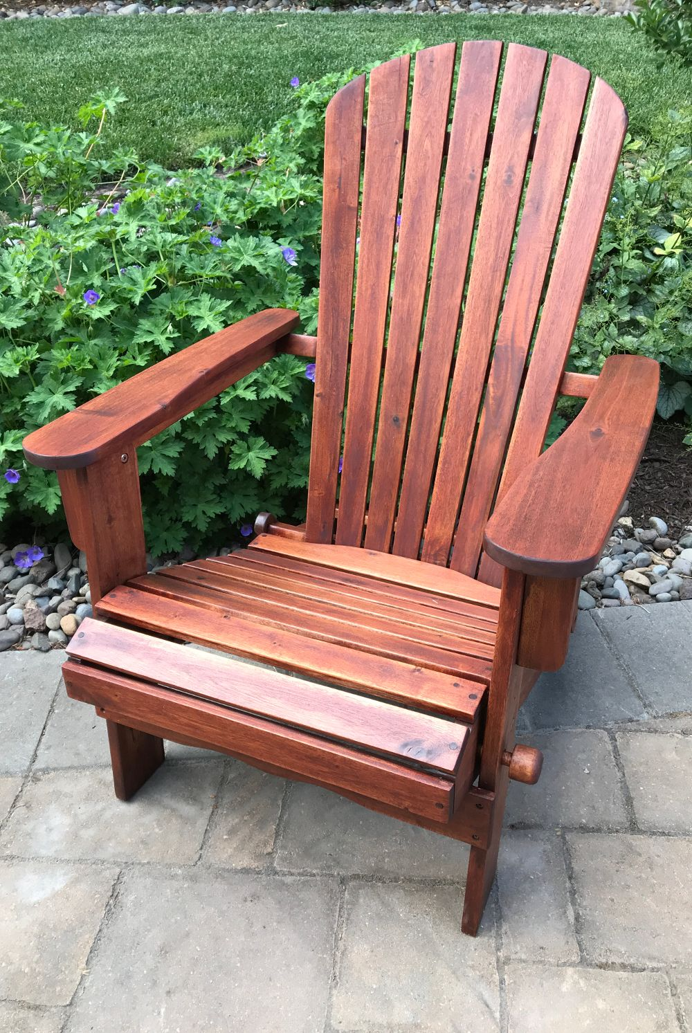 """""""ExoShield Wood Stain Transformed this Old Chair We Almost"""