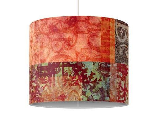 klebefolie orientalisch pendelleuchte schriftmuster lampe lampenschirm rot