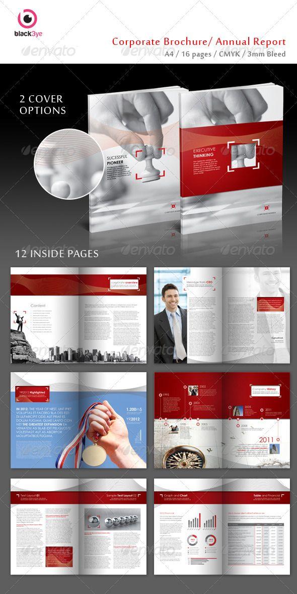 Executive Corporate Brochure Annual Report Corporate Brochures – Corporate Report Template