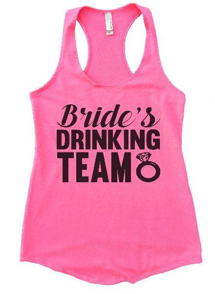 Bride's Drinking Team Womens Workout Tank Top 1101